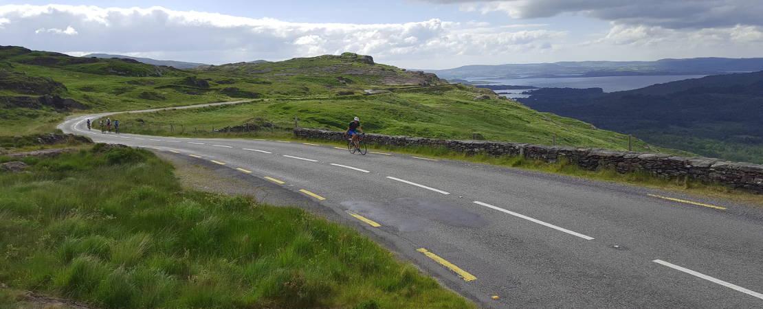 Climbing away from Glengarriff